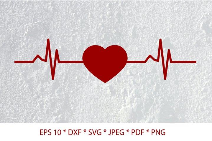 Heartbeat SVG. Line heart beat SVG