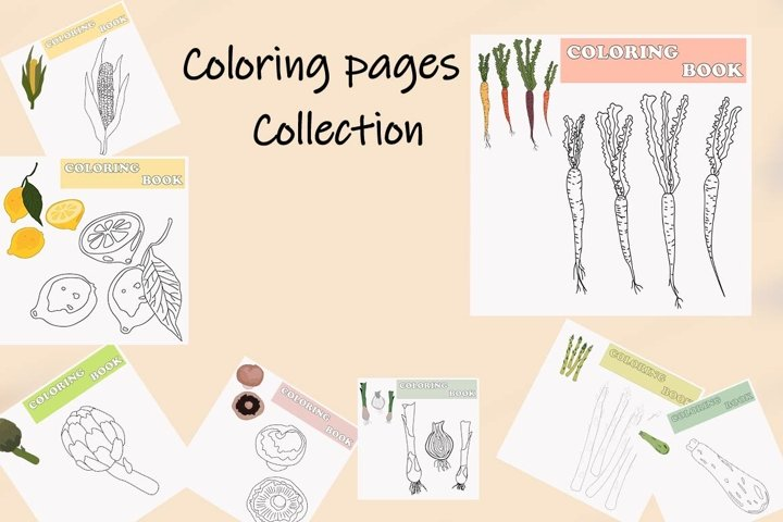 Coloring Pages with vegetables
