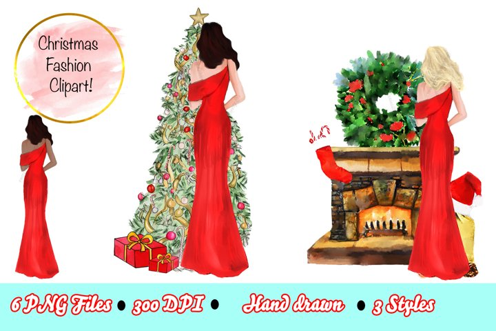Christmas Fashion Clipart Holiday Clipart