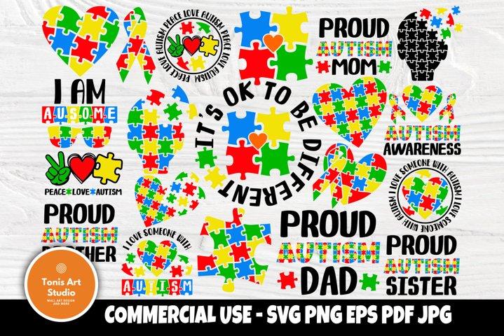 Autism SVG Bundle, Autism Awareness Svg, Autism Mom Svg
