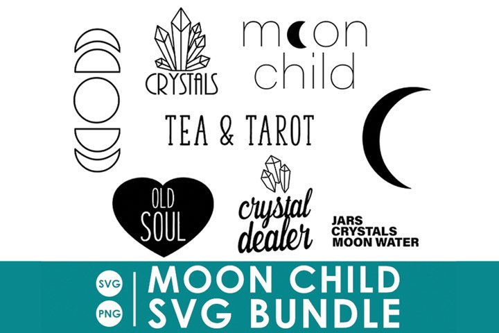 Moon Child SVG Bundle