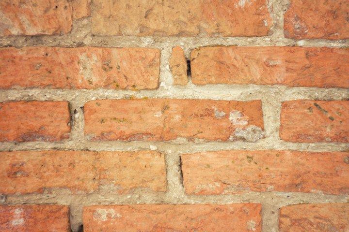 texture of old red brick, brickwork