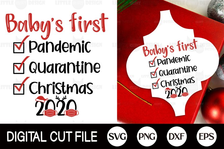2020, Baby Pandemic Christmas SVG, Arabesque Ornament DXF