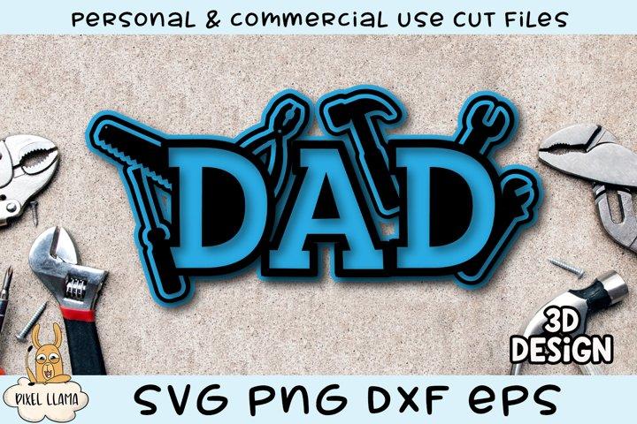 3D Layered Dad Tool Design SVG