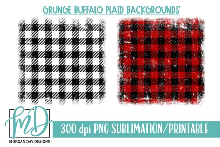 Buffalo Plaid Background Printable Sublimation PNG Bundle