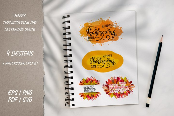 Happy Thanksgiving sign greeting cards 4 Fall designs