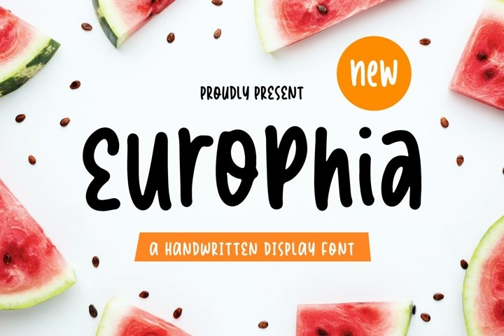 Europhia - Handwritten Display Font