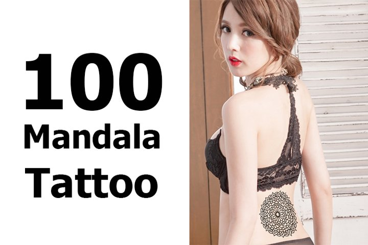 Mandala Tattoo collections in line style. sexy illustration