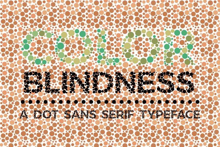 Color Blindness Test Typeface