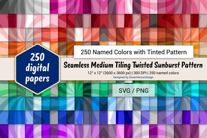 Seamless Medium Tiling Twisted Sunburst - 250 Colors Tinted