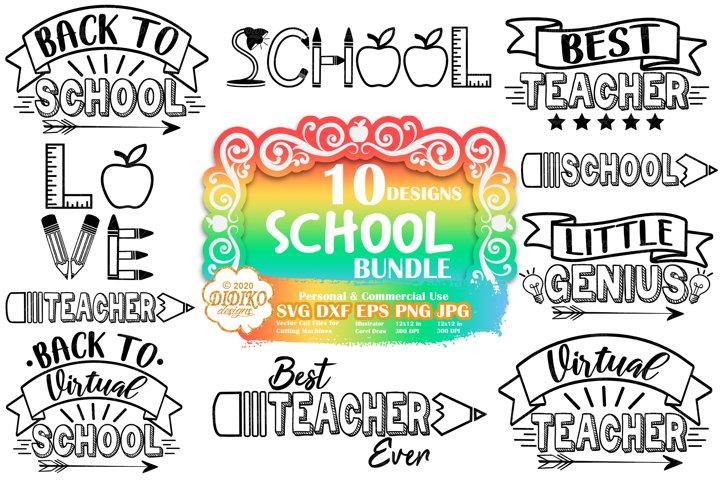 School SVG Bundle | Teacher SVG Bundle | Back to School SVG