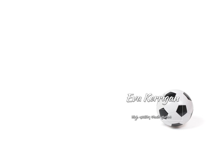 Classic football on a white background isolate.