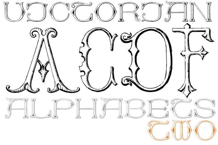 Victorian Alphabets Pack 2A