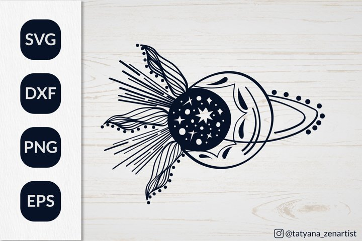 Crescent moon svg, Sun and Moon SVG for t-shirt design