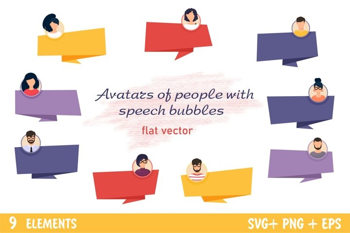 Avatars of people with speech bubbles