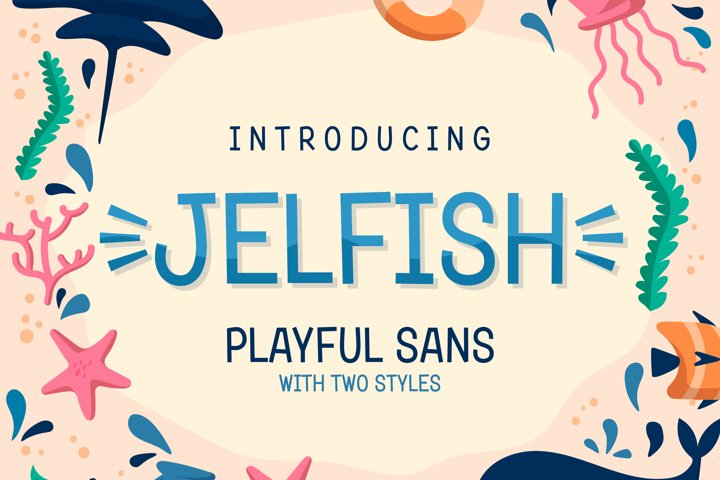 Jelfish - Playful Sans