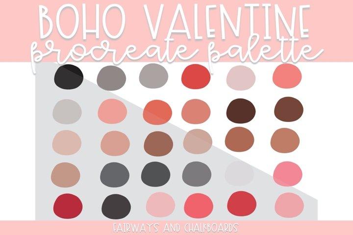 Boho Valentine Procreate Palette