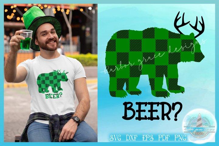 SVG Plaid Beer Bear Deer Funny | Fun Dad Tshirt Quote SVG