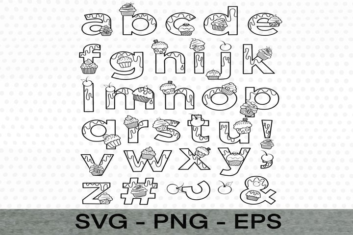 Letters a-z style/logo SVG file,EPS,PNG Files,Card making &