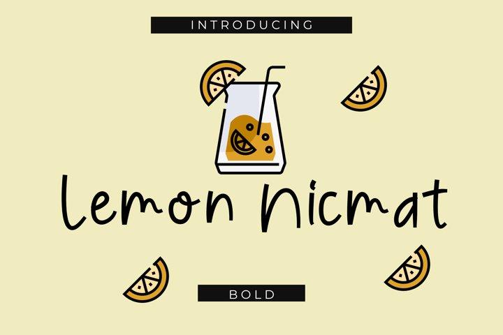 Lemon Nicmat Bold Playful font
