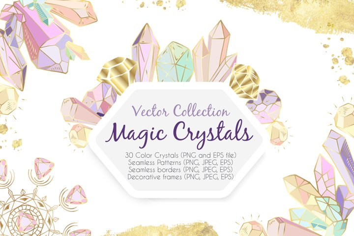 Magic Crystals - vector collection