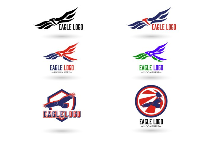 Eagle Logo , Hawk , Falcon TemplateGradient Color