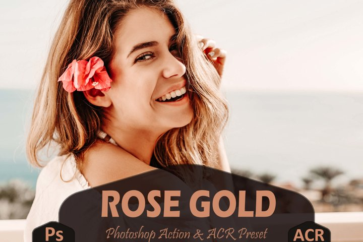 10 Rose Gold Photoshop Actions And ACR Presets, Soft Cream