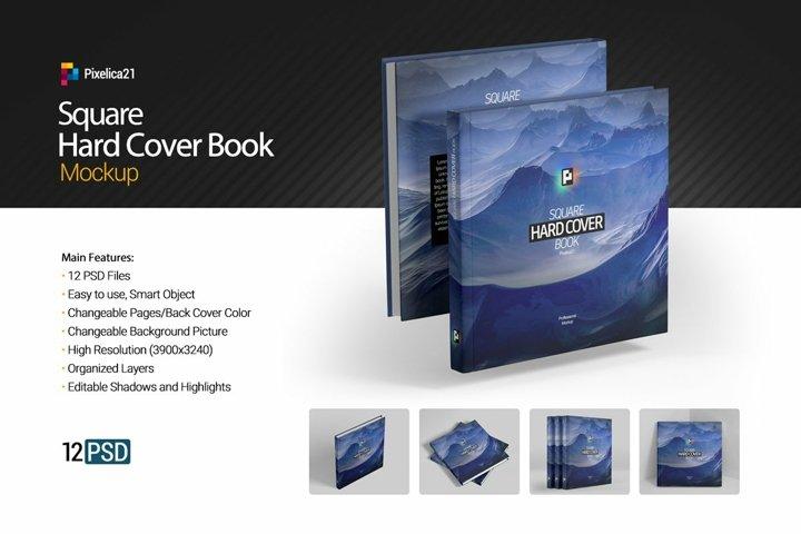 Square Hard Cover Book Mockup