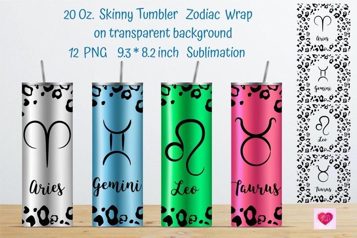Zodiac Signs. Tumbler Sublimation designs. Tumbler Wrap.