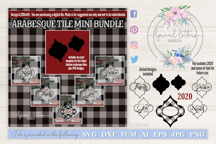 Christmas SVG Bundle Ceramic Arabesque Tile Template LL20Oct