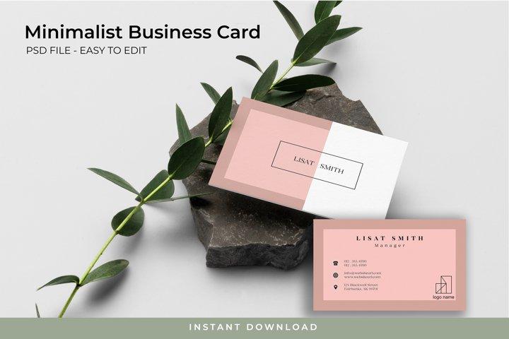 Minimalist Business Card - PSD TEMPLATE