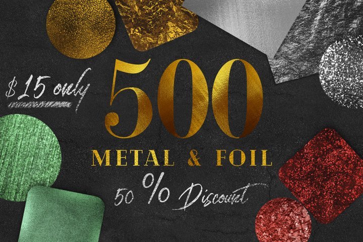 500 Gold foil Textures Bundle