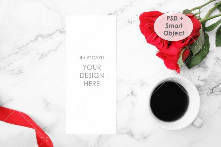 Program / Menu Card Mockup / 4x9 Card