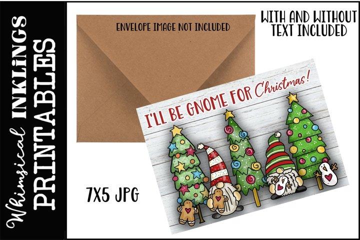 Gnome For Christmas Printable Greeting Card