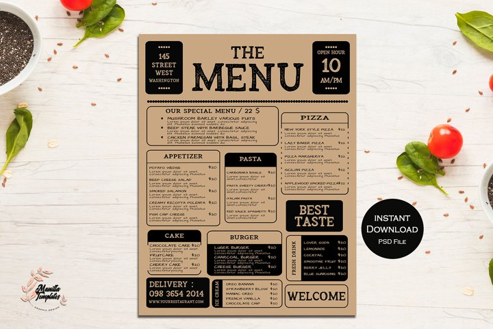 FOOD Menu Template, MENU TEMPLATE ,Food Template ,