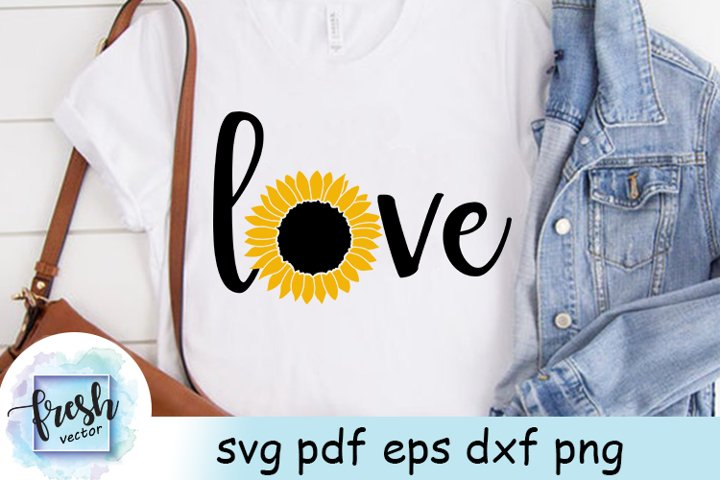 Sunflower Love SVG Sunflower Svg Summer Svg Flower Svg
