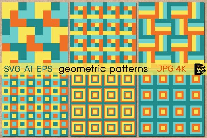 Geometric seamless patterns. Geometrical ornament. Vector