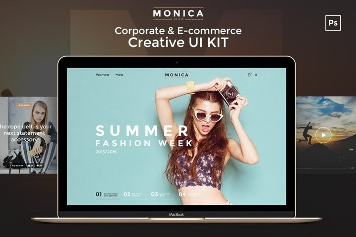 Monica Corporate & E-commerce UI Kit