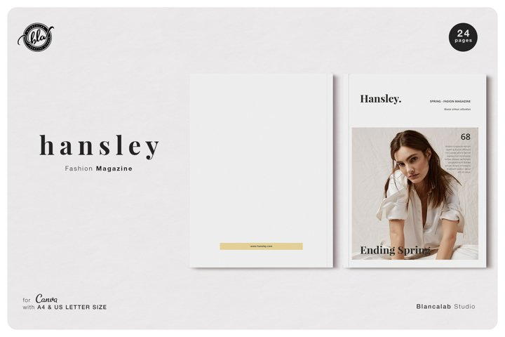 Canva Fashion Magazine | Hansley