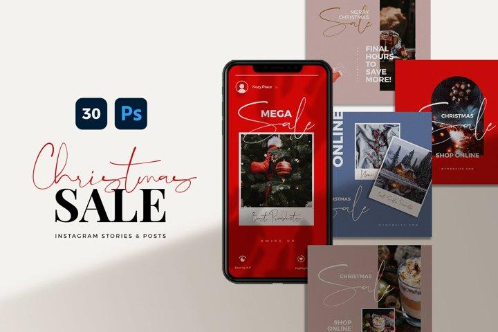 Christmas Sale Instagram Template