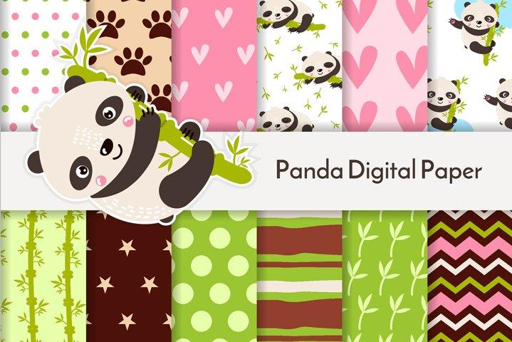 Panda digital paper JPG 34