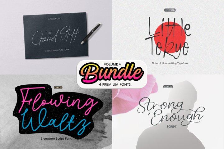 Epic Bundle Vol 4   4 Premium Fonts