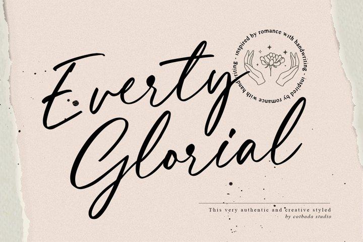 Everty Glorial Script
