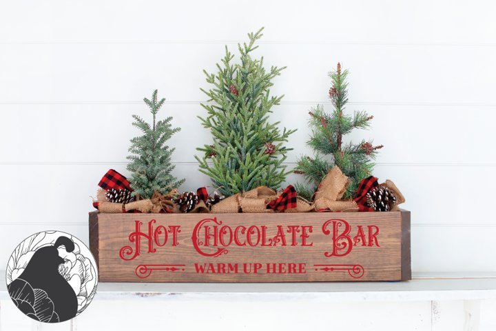 Hot Chocolate Bar SVG, Christmas svg