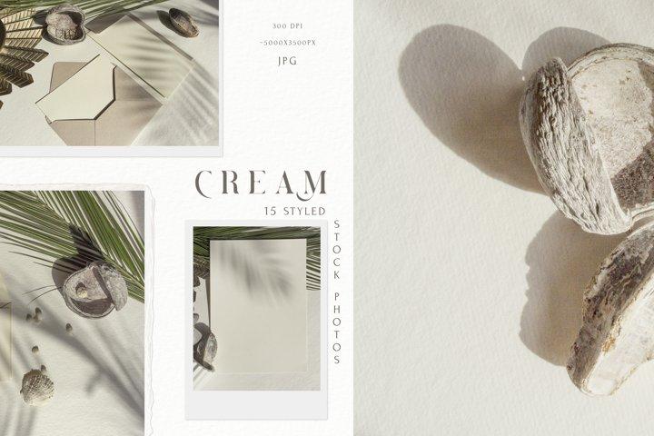Cream Minimalist Styled Stock Photos