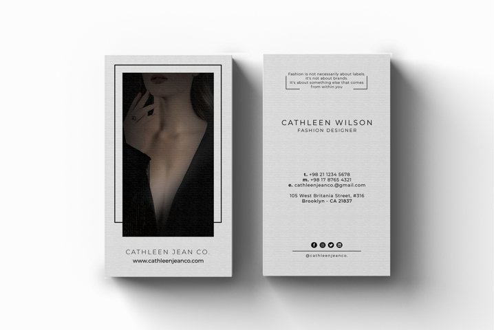 Fashion Design Business Card - Vol.18