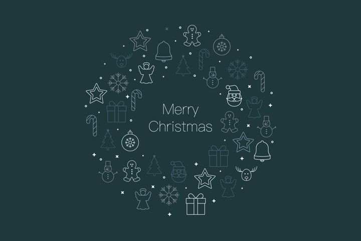 Christmas ornament icon background