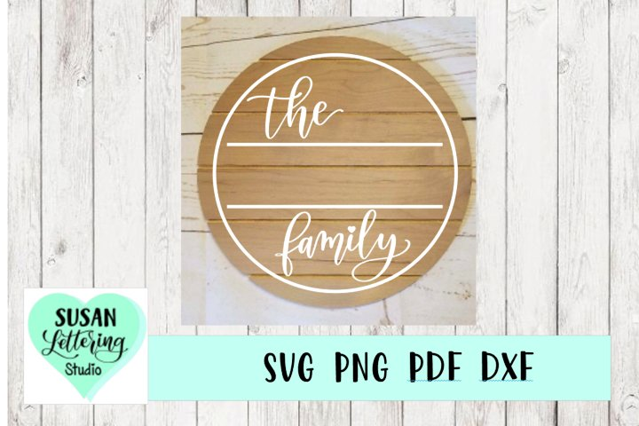 Round Family Name Wood Sign Template SVG, Family Sign