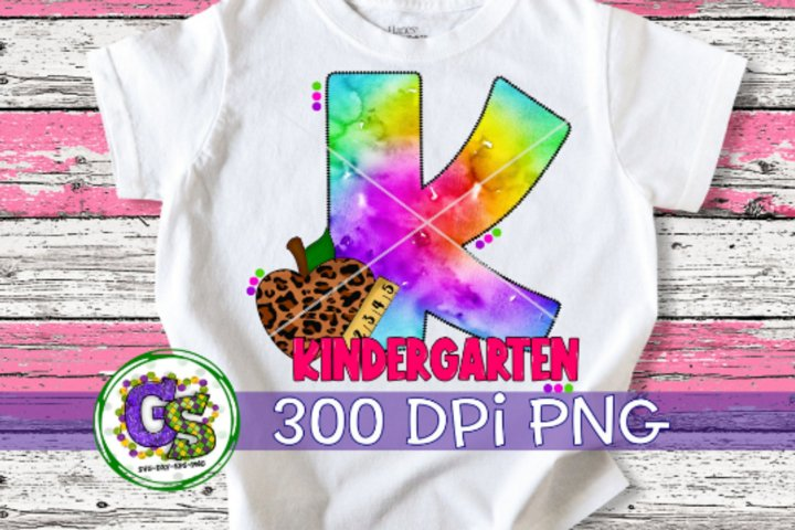 Kindergarten Tie Dye PNG for Sublimation | Back To School PN
