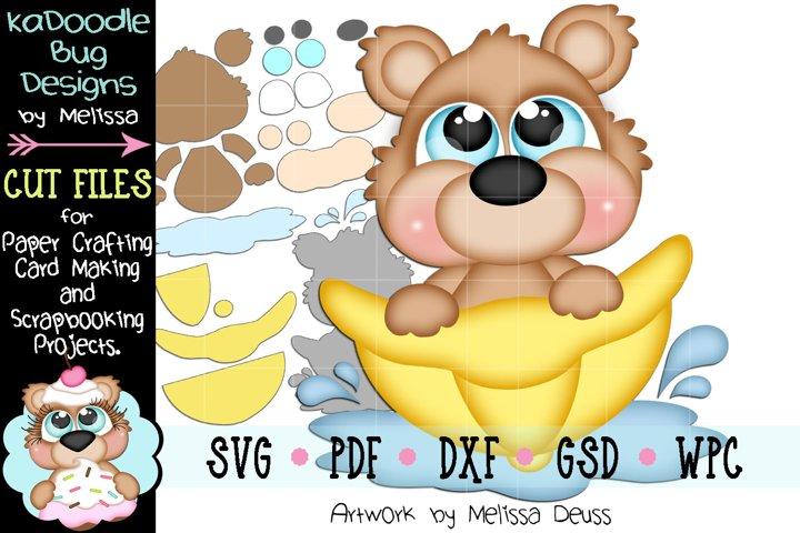 Rain Hat Bear Peeker Cut File - SVG PDF DXF GSD WPC